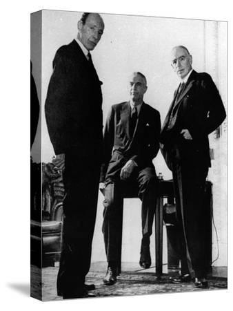 Lord Halifax, Will Clayton and Maynard Keynes, C.1943--Stretched Canvas Print