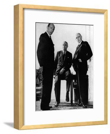 Lord Halifax, Will Clayton and Maynard Keynes, C.1943--Framed Photographic Print