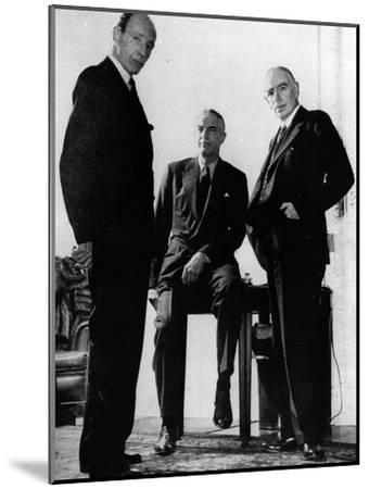 Lord Halifax, Will Clayton and Maynard Keynes, C.1943--Mounted Photographic Print