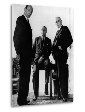 Lord Halifax, Will Clayton and Maynard Keynes, C.1943--Metal Print