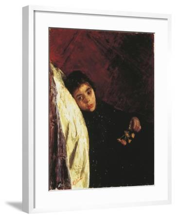 The Sick Girl, 1875-Antonio Mancini-Framed Giclee Print