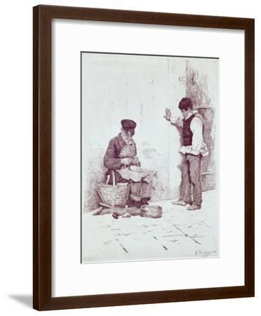 The Cobbler, 1908-Antonio Pirandello-Framed Giclee Print