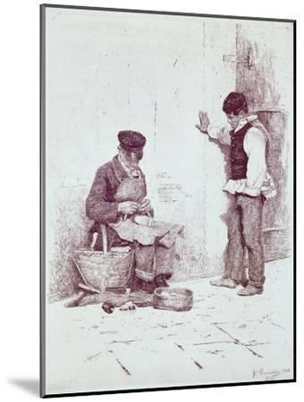 The Cobbler, 1908-Antonio Pirandello-Mounted Giclee Print