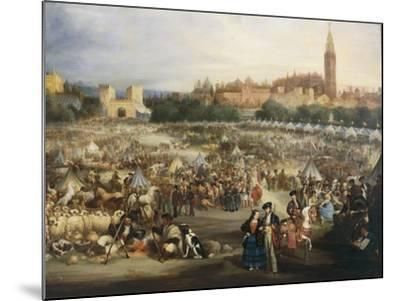 The Fair of Seville, the Cathedral and Giralda in Background-Andrea Appiani-Mounted Giclee Print