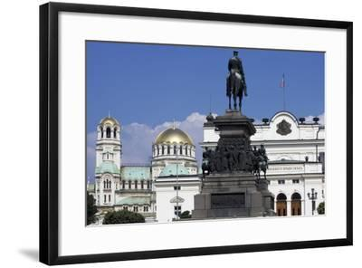 Monument to Tsar Liberator and Equestrian Statue of Alexander II-Arnolfo di Cambio-Framed Giclee Print