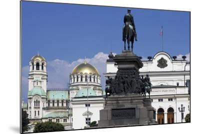 Monument to Tsar Liberator and Equestrian Statue of Alexander II-Arnolfo di Cambio-Mounted Giclee Print