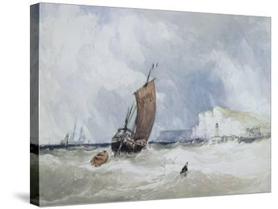 The Pilot Boat Off Fecamp, Normandy-Charles Burton Barber-Stretched Canvas Print