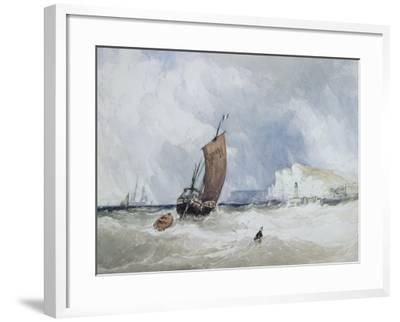 The Pilot Boat Off Fecamp, Normandy-Charles Burton Barber-Framed Giclee Print