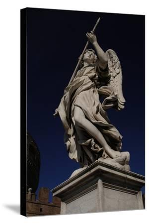 Angel with a Spear-Domenico Induno-Stretched Canvas Print