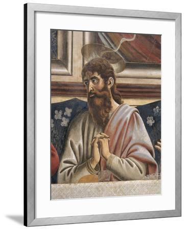 Bartholomew with Clasped Hands, Detail from the Last Supper, 1450-Andrea Del Castagno-Framed Giclee Print