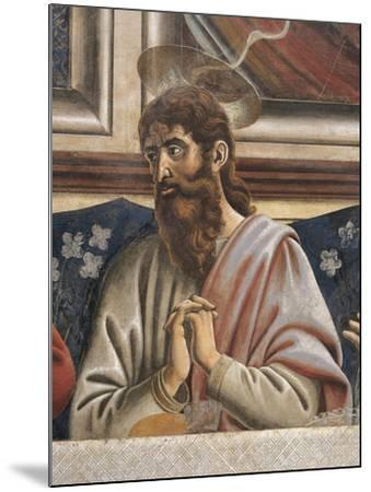 Bartholomew with Clasped Hands, Detail from the Last Supper, 1450-Andrea Del Castagno-Mounted Giclee Print