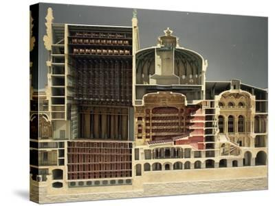 Cross Section of Paris Opera, 1862-1875-Charles Gounod-Stretched Canvas Print