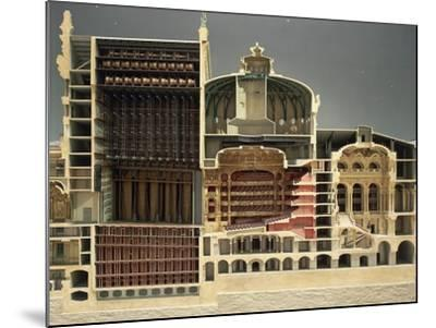 Cross Section of Paris Opera, 1862-1875-Charles Gounod-Mounted Giclee Print