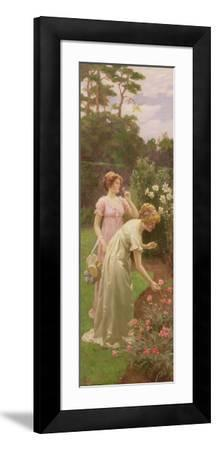 Two Ladies Picking Flowers-Charles Louis Ambroise Thomas-Framed Giclee Print
