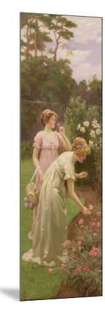 Two Ladies Picking Flowers-Charles Louis Ambroise Thomas-Mounted Giclee Print