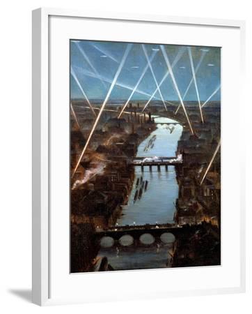 Among London Searchlights-Christopher Richard Wynne Nevinson-Framed Giclee Print