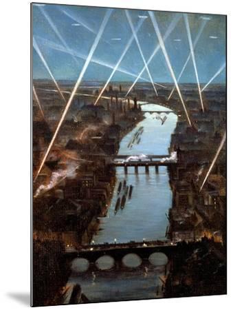 Among London Searchlights-Christopher Richard Wynne Nevinson-Mounted Giclee Print
