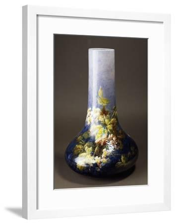 Vase with Impressionist-Style Floral Decorations, Circa 1880-Albert Boue and Georges Delvaux-Framed Giclee Print