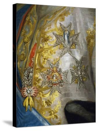 Portrait of Don Luis Antonio Jaime De Bourbon-Anton Raphael Mengs-Stretched Canvas Print