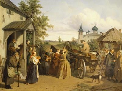 Russia, Official Saying Goodbye to His Family-Alessandro Manzoni-Framed Giclee Print