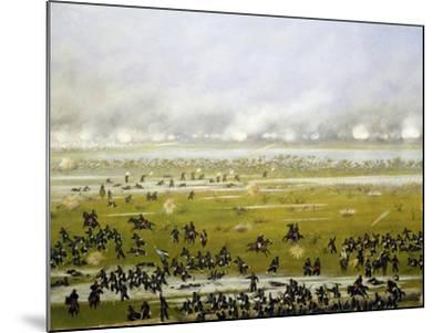 Column of Argentine Forces Led by General Emilio Mitre, Launching Attack in Curupayty-Candido Lopez-Mounted Giclee Print