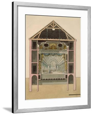 Cross Section of Theatre Stage, 1781-Claudio Linati-Framed Giclee Print