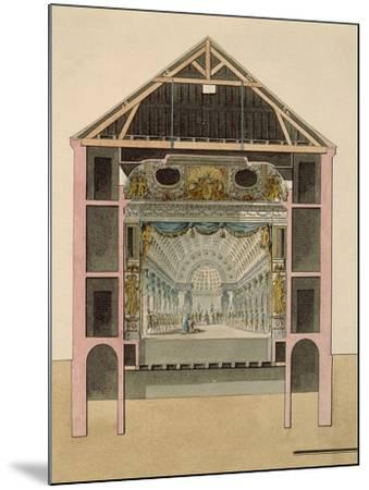 Cross Section of Theatre Stage, 1781-Claudio Linati-Mounted Giclee Print