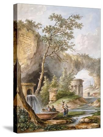 France, Versailles, from Views and Plans of the Petit Trianon at Versailles-Claudio Linati-Stretched Canvas Print