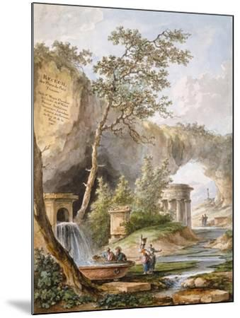 France, Versailles, from Views and Plans of the Petit Trianon at Versailles-Claudio Linati-Mounted Giclee Print
