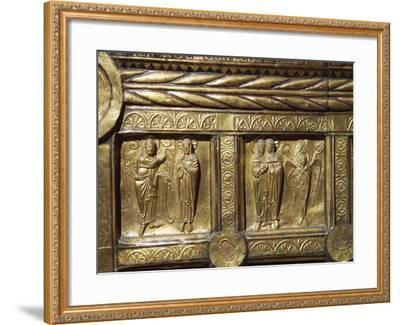 Wooden Altar Frontal Depicting Annunciation and Visitation, from Olst Near Randers--Framed Photographic Print