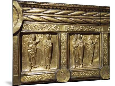 Wooden Altar Frontal Depicting Annunciation and Visitation, from Olst Near Randers--Mounted Photographic Print