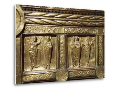 Wooden Altar Frontal Depicting Annunciation and Visitation, from Olst Near Randers--Metal Print