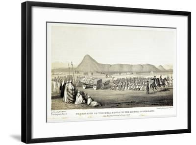 Reconstruction of Procession of the Bull of Nimrud-Baldassare Longhena-Framed Giclee Print