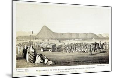 Reconstruction of Procession of the Bull of Nimrud-Baldassare Longhena-Mounted Giclee Print
