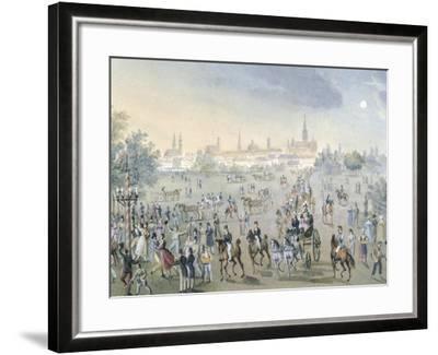 Celebration for Church Consecration in Brigittenau in Vienna, Ca 1820-Francois Gerard-Framed Giclee Print