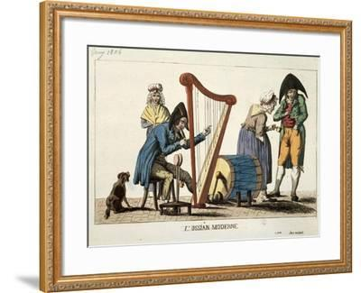 Caricature of Modern Ossian, 1806-Francois Quesnelel-Framed Giclee Print