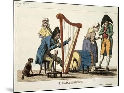 Caricature of Modern Ossian, 1806-Francois Quesnelel-Mounted Giclee Print