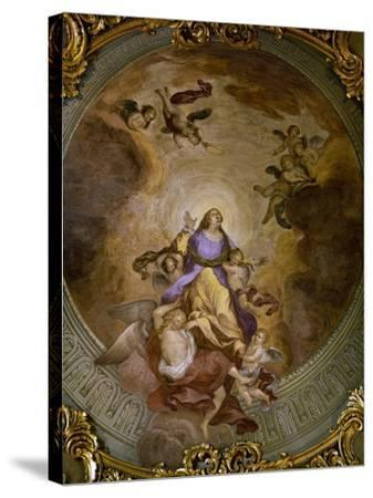 Ceiling Painting of Saint Catherine's Chapel,1830-Francesco Borromini-Stretched Canvas Print