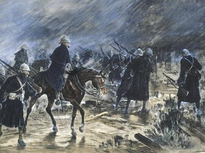 The British Entering Bloemfontein, 1900-Frank Topham-Framed Giclee Print