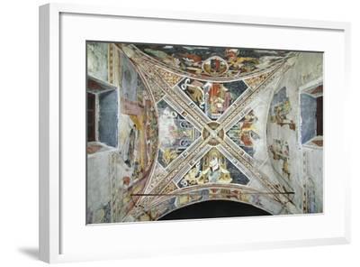 France, La Brigue, Vault of Notre-Dame Des Fontaines Chapel, Four Evangelists, 1452-Giovanni Battista Ernesto Basile-Framed Giclee Print