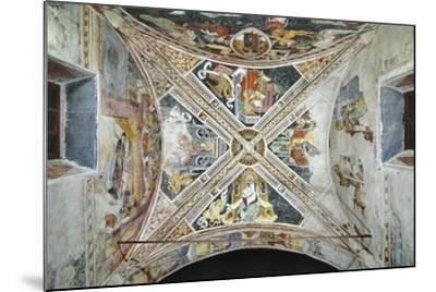 France, La Brigue, Vault of Notre-Dame Des Fontaines Chapel, Four Evangelists, 1452-Giovanni Battista Ernesto Basile-Mounted Giclee Print