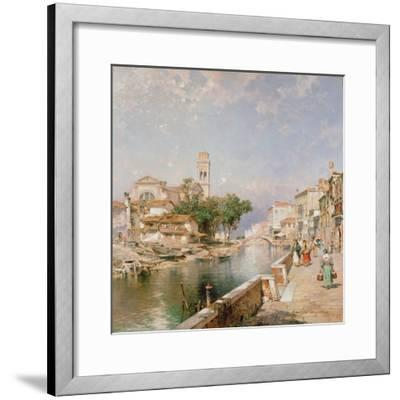 The Canal Tolentini-Franz Xaver Thallmaier-Framed Giclee Print