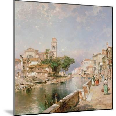 The Canal Tolentini-Franz Xaver Thallmaier-Mounted Giclee Print