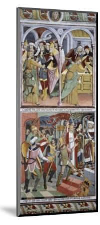 Betrayal of Jesus Christ and Jesus before Pilate, 1491-Giovanni Canavesio-Mounted Giclee Print