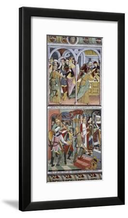 Betrayal of Jesus Christ and Jesus before Pilate, 1491-Giovanni Canavesio-Framed Giclee Print