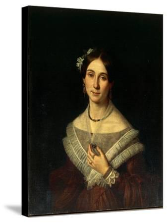 Portrait of Gentlewoman-Giuseppe Cacialli-Stretched Canvas Print