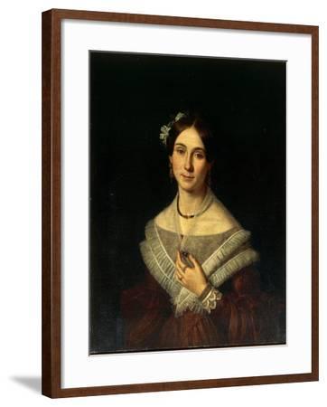 Portrait of Gentlewoman-Giuseppe Cacialli-Framed Giclee Print