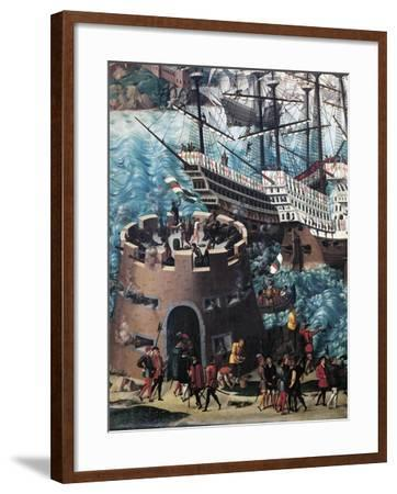 Embarkation of Henry VIII on Board the Henry Grace a Dieu in 1520, Detail-Friedrich Pacher-Framed Giclee Print