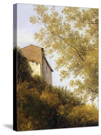 The Walk Up to Ariccia, Detail, 1839-Giambattista Langetti-Stretched Canvas Print