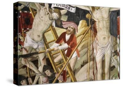France, La Brigue, Notre-Dame Des Fontaines Chapel, Detail from Death of Jesus, 1491-Giovanni Canavesio-Stretched Canvas Print